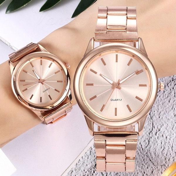 Fashion, rosegoldwatch, gold, Simple