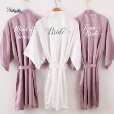mauve, Bathrobe, Bridesmaid, Bride