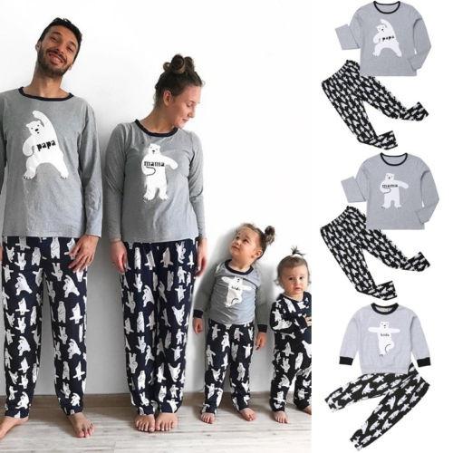 nightwear, Christmas, Family, Long Sleeve