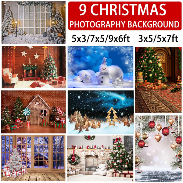 party, snowmanbackdrop, Christmas, Tree
