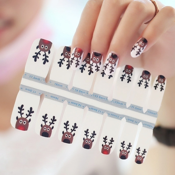 Nails, art, Christmas, nailfoilssticker