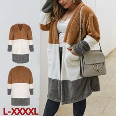 Splicing, cashmere sweater, Fashion, Winter