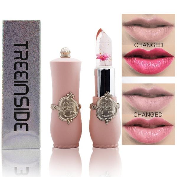 Flowers, Lipstick, gold, Makeup