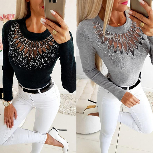 blouse, Fashion, slomtop, Hollow-out