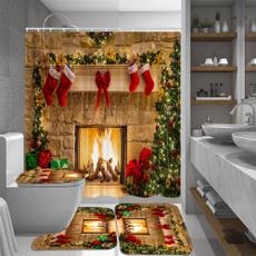 Shower, Bathroom, Christmas, Waterproof