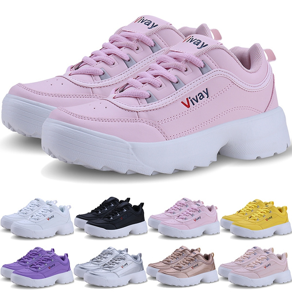 Women Thick Bottom Sports Running Shoes