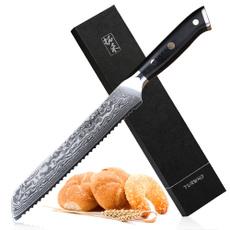Steel, Kitchen & Dining, serratedkitchenknive, damascusbreadknife