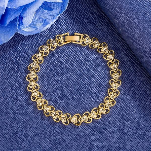 Charm Bracelet, Heart, braceletfemme, gold bracelet