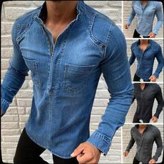Plus Size, Shirt, Coat, denim jacket