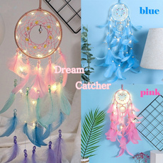 dreamcatcherpendant, colorfulfeather, led, Romantic