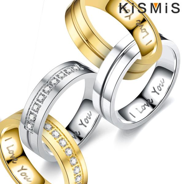 Steel, DIAMOND, wedding ring, Engagement Ring