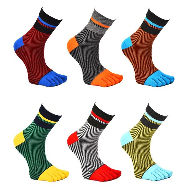 Cotton Socks, Cotton, Breathable, fivefinger