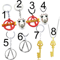 keyholder, Chain, gold, Metal