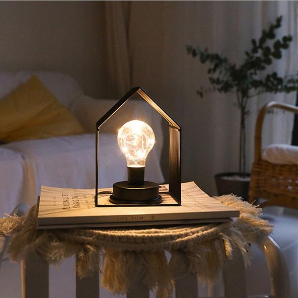 Lamp Farmhouse Bedside Desk, Small Farmhouse Table Lamp