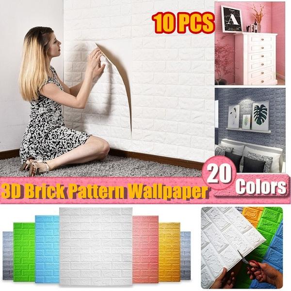 3dbrickwallpaper, Home Decor, Waterproof, decorsticker