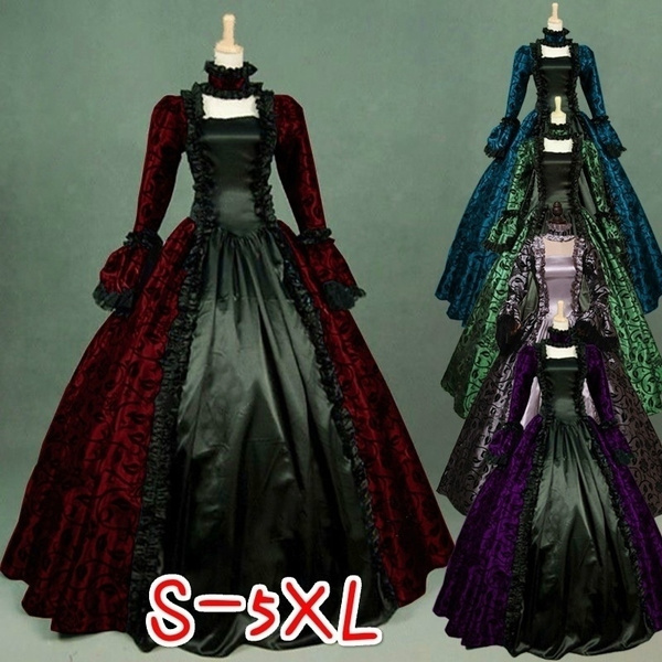 Plus Size, Lace, Cosplay Costume, Dress