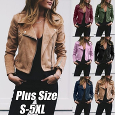 Casual Jackets, Plus Size, zipperjacket, slim