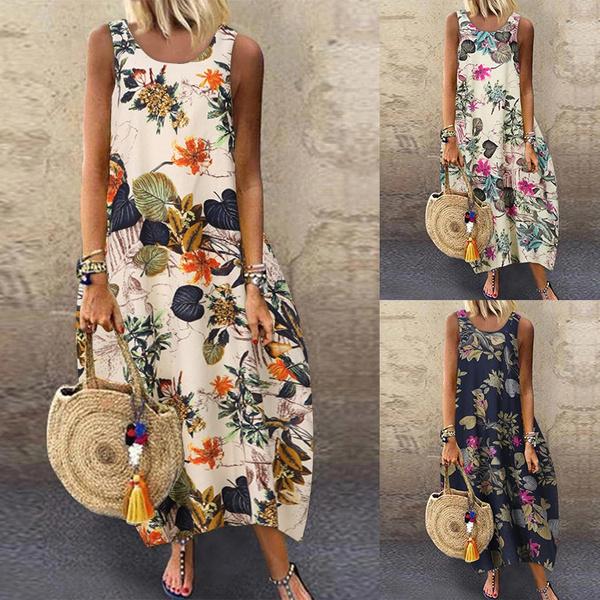 sleeveless, summer dress, vestir, long dress