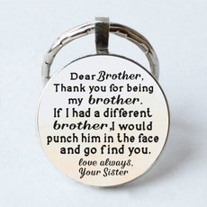 giftforbrother, Key Chain, Gifts, Funny