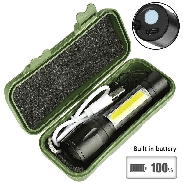 Flashlight, Mini, builtinbattery, led