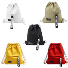 School, Makeup, Drawstring Bags, canvas drawstring bags