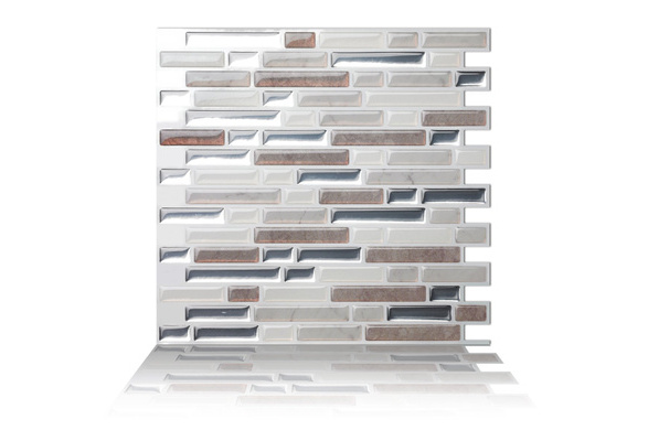 10 Sheet Peel And Stick Self Adhesive Removable Stick On Kitchen Backsplash Bathroom 3d Wall Sticker Wallpaper Tiles In Como Pebble Wish