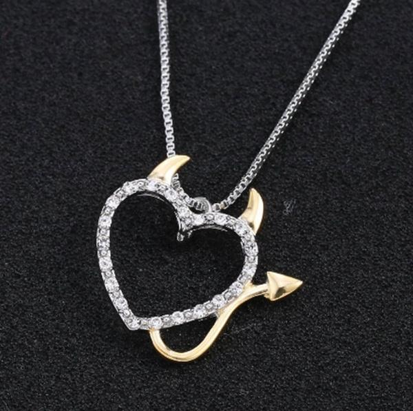 Heart, devils, Love, Jewelry