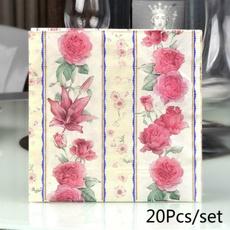 Home Decor, handkerchief, Rose, guardanapo