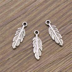 craftsforadult, Charm Bracelet, Jewelry, featherpendant