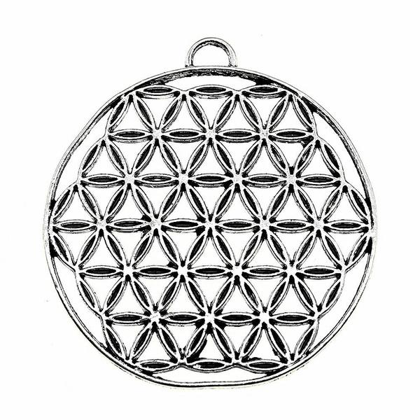 thefloweroflife, theseedoflifependant, Jewelry, Metal