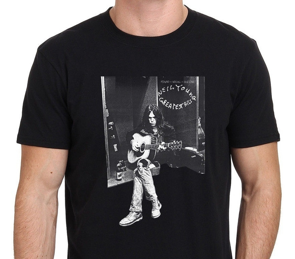 neilyoung, Cotton T Shirt, graphic tee, onecktshirt