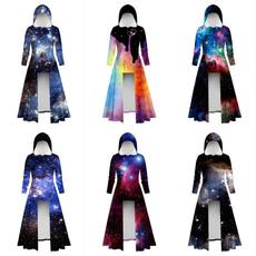 slim dress, hooded, Sleeve, sleevecoat