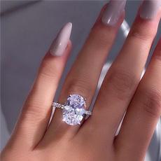 Sterling, Fashion, Princess, wedding ring