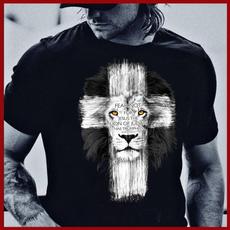 christiantshirt, Fashion, jesusshirt, lioncrosstshirt
