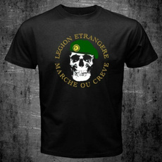 Mens T Shirt, shortsleevestshirt, légionétrangère, Sleeve