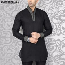 indianshirt, muslimclothing, Man Shirts, Long sleeved