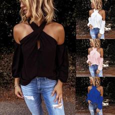 blouse, Plus Size, Shirt, Halter