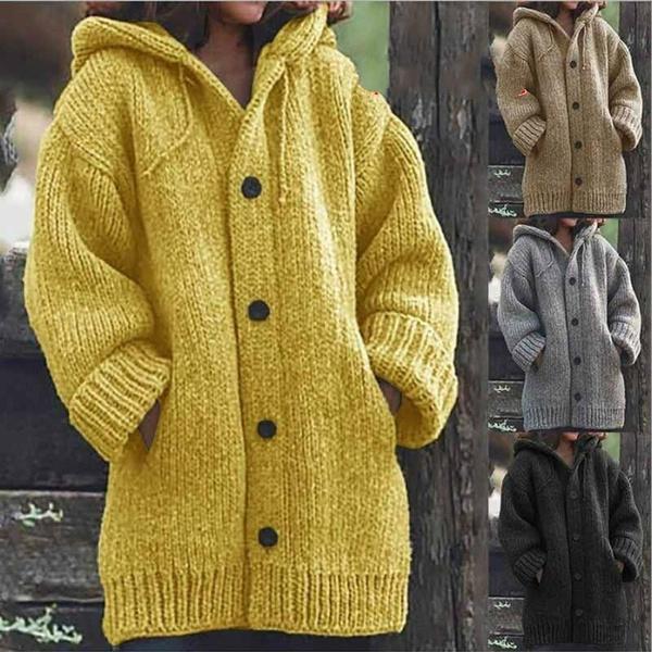 hooded sweater, fluffy, Winter Coat Women, winter fashion