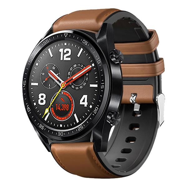 leathersiliconewatchbandforhuaweiwatch, watchstrapforhuawei, leather, Watch