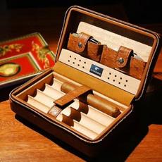 case, Box, travelcigar, leather