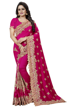 magentasilksaree, Designers, Bollywood, magentasilkembroideredpartywearsar