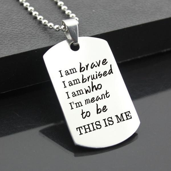 thisisme, Key Chain, Jewelry, inspirationa