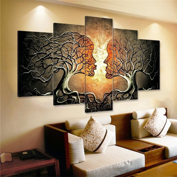 5 Panels Home Wall Art Canvas Painting, Wall Paintings For Living Room Ideas