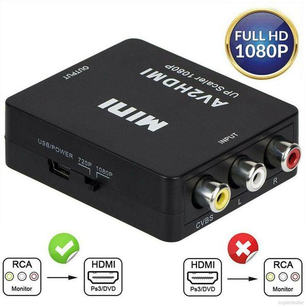 Converter, Hdmi, supporthdmi1080por720poutput, white