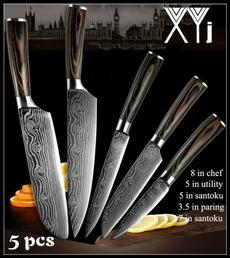 Steel, Kitchen & Dining, setknive, Laser