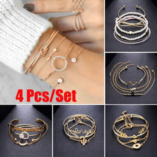 Fashion, Love, Chain, leafbracelet