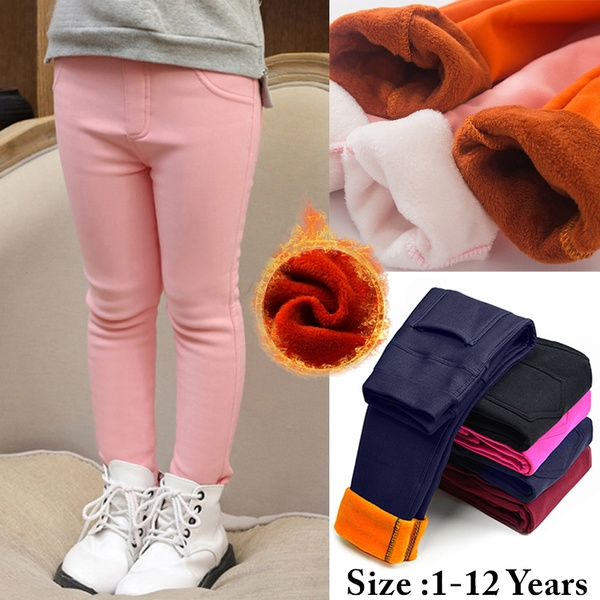 Fleece, Warm Leggings, Winter, Elastic