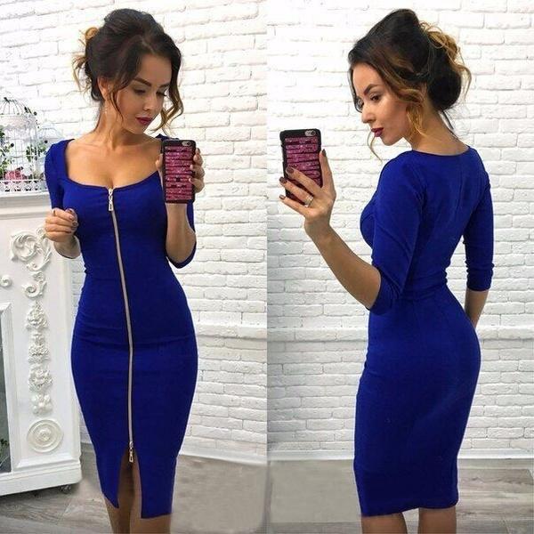 long skirt, sleeve dress, Waist, Sleeve