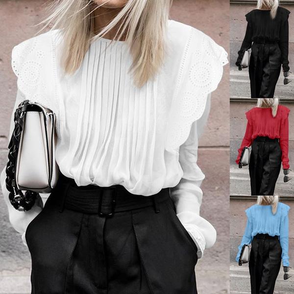shirtsforwomen, Fashion, ruffle, Lace