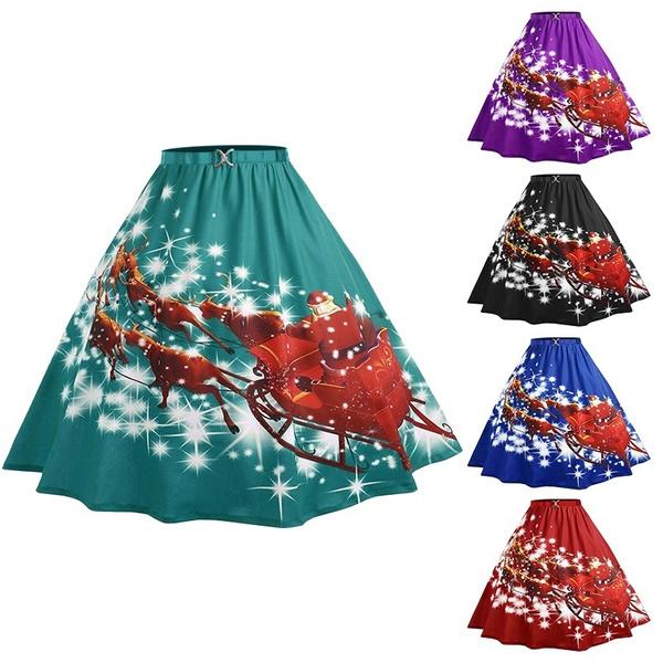 Vintage, christmasskirt, Plus Size, Christmas